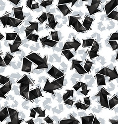 Black recycle signs seamless pattern geometric vector image vector image