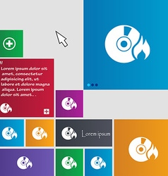 CD icon sign buttons Modern interface website vector image vector image