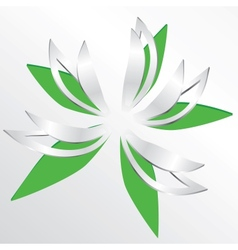 Flower cut out of paper vector image