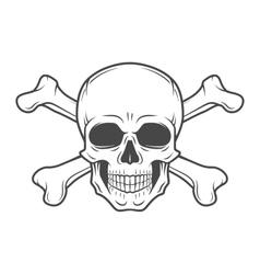 Human evil skull Pirate insignia concept vector image vector image