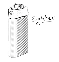 Lighter cartoon sketch vector image