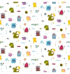 Monsters for Kids Design seamless pattern vector image vector image
