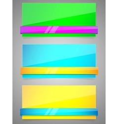 neon banners vector image vector image