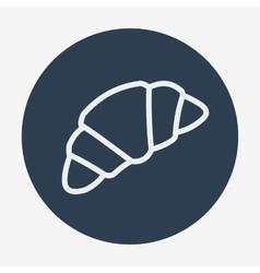 Single croissant icon vector image vector image