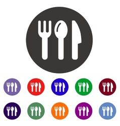 Tableware icon vector image vector image