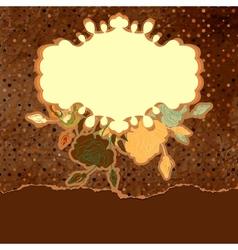 Vintage Floral Roses Background vector image vector image