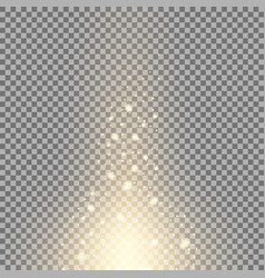 glow sparks effect golden color vector image vector image