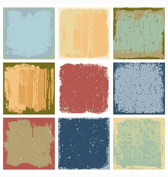 Grunge Square Backgrounds vector image