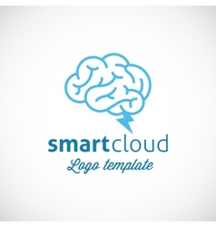 Smart Cloud Abstract Logo Template vector image