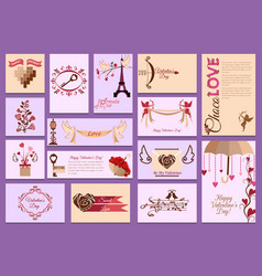 valentines day card love design heart card vector image vector image