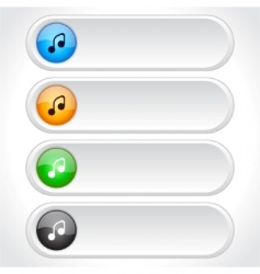web page buttons vector image vector image