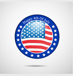 4th of july usa independence day vector image