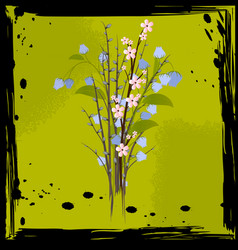 Abstract bouquet of flowers vector