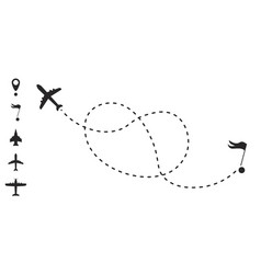 airplane route line vector image