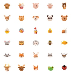 Animals icon set Part one vector