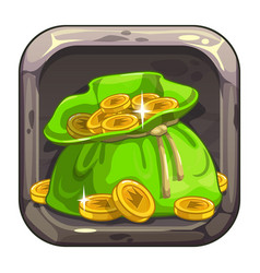 App icon with big bag of coins vector