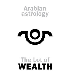 astrology lot of wealth vector image