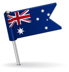 Australian pin icon flag vector