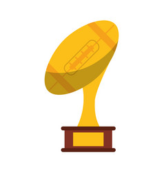 Ball trophy shape american football award vector