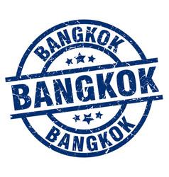 Bangkok blue round grunge stamp vector