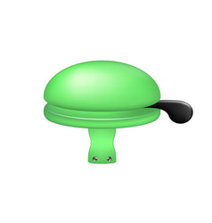 Bicycle bell in green design vector