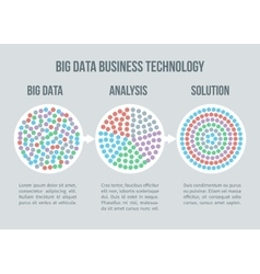 Big data concept Business analytics vector