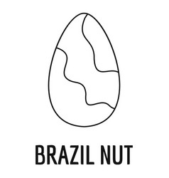 brazil nut icon outline style vector image