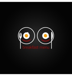 Breakfast food scrambled menu design backgraund vector