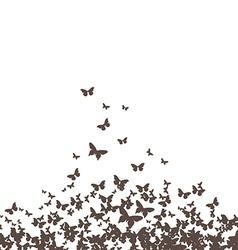 Butterflies black vector