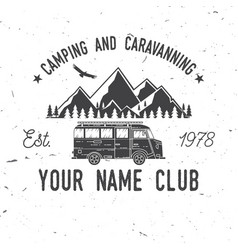 camping and caravaning club vector image vector image