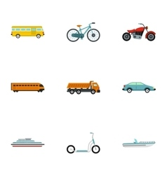 Car service icons set flat style vector