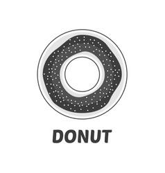 caramel donut icon vector image