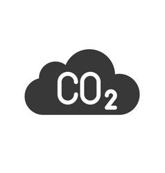 Carbon monoxide on cloud pollution icon vector