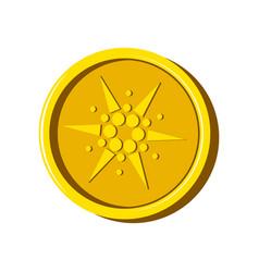 cardano virtual money currency vector image