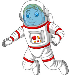 cartoon astronaut isolated on white background vector image