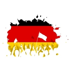 Celebrating Crowd with German flag vector image
