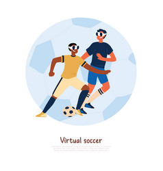 cheerful teenagers in sportswear and vr glasses vector image