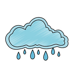 Cloud sky rainy icon vector