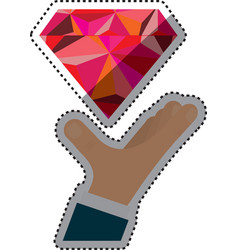 Diamond luxury jewerly vector