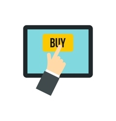 E-commerce online shopping icon flat style vector