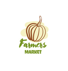 Farmers market badge vector