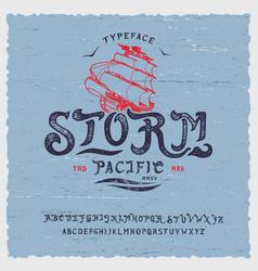 Font storm hand vector