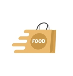 Food delivery logo isolated shopping bag vector