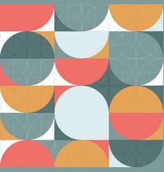 geometry minimalistic seamless pattern poster vector image