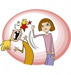 Girls fighting vector