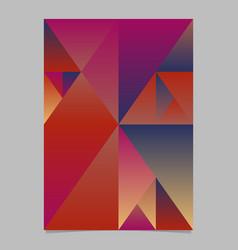 gradient polygonal minimal geometrical triangle vector image