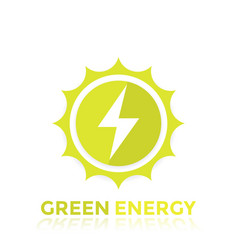 Green energy logo design vector