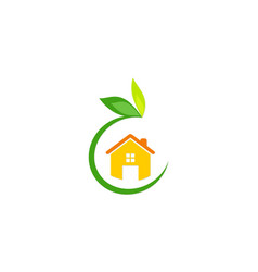 green house garden logo vector image
