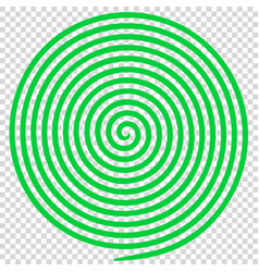 green round abstract vortex hypnotic spiral vector image