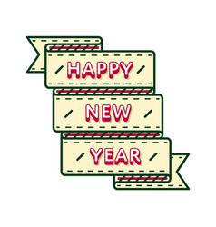 happy new year greeting emblem vector image
